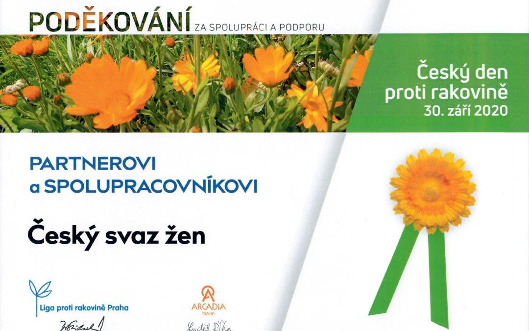 Poděkování patří našim členkám – Český den proti rakovině 2020